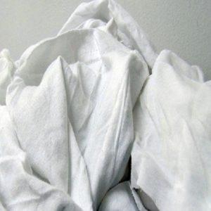 pezzame stracci cotone bianco