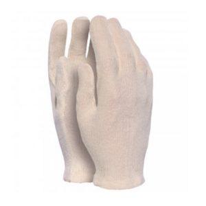 guanti in maglia di cotone