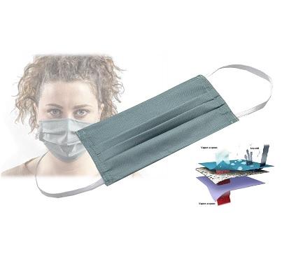 Mascherina protettiva in tessuto e poliestere lavabile 70 cicli tx24