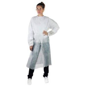 camice tnt dpi monouso bianco