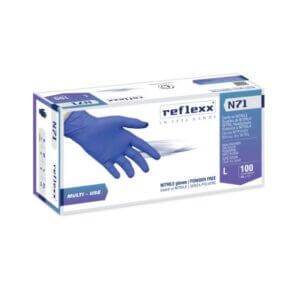 Guanti In Nitrile Ipoallergenici Senza Polvere Reflexx N71 – gr. 4,2
