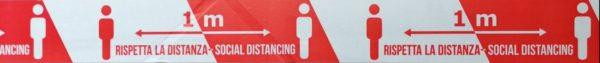 Nastro PVC rispetta la distanza di sicurezza